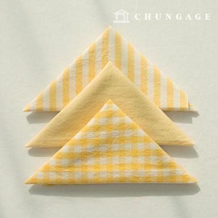 面料套餐棉面料水洗希腊条纹梅兰系列1/8麻3包黄色