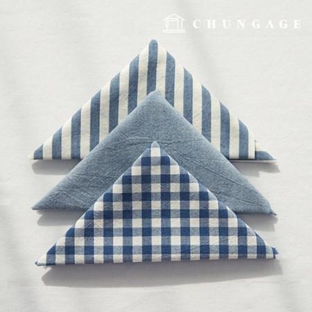 布包棉布水洗格子条纹梅兰系列1/8麻3包蓝色