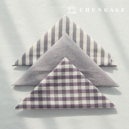 布包棉布水洗格子条纹黑色系列1/8麻3包Jinbora