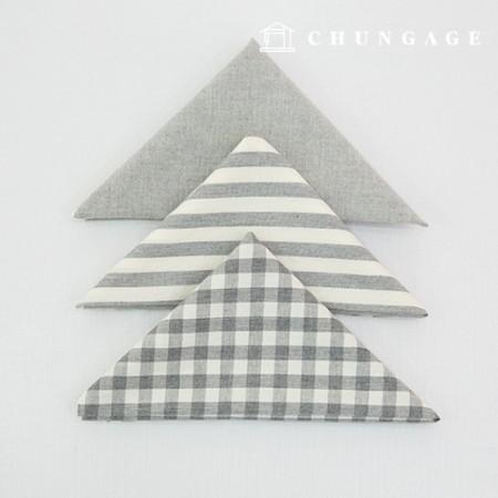 布包棉布水洗格子条纹梅兰系列1/8麻3包淡灰色