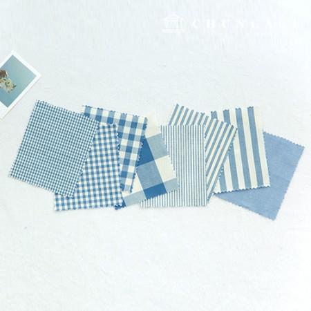 棉渐变布20色Ombre染色终止的平纹条纹格子重力布料蓝色8种