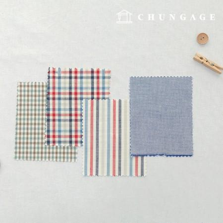 棉渐变色织物20水色染色终止的平纹条纹格子布海军陆战队4种