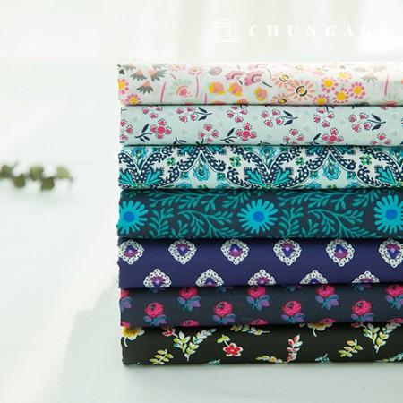 棉混纺宽幅面料,旧的和旧的,花布,哈瓦那,7种