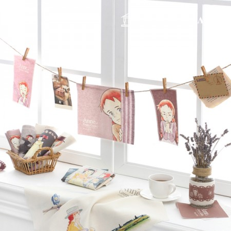 Red Hair Anne Special Cotton Linen 标签剪纸多色 34-452