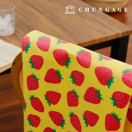 防水布层压板无毒TPU防水布草莓水粉水果图案