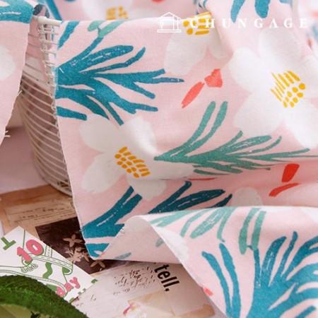 棉拉绒超细纤维面料夏威夷花