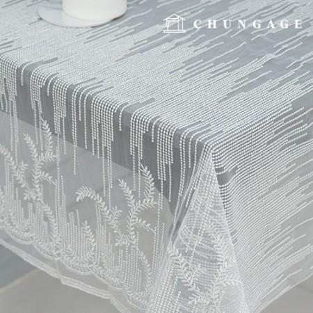 网纱刺绣布银线银线