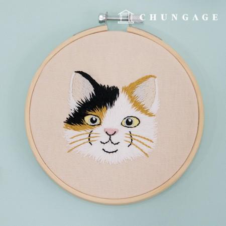 法式刺绣包动物DIY套装猫的泰勒CH-511387自制经验