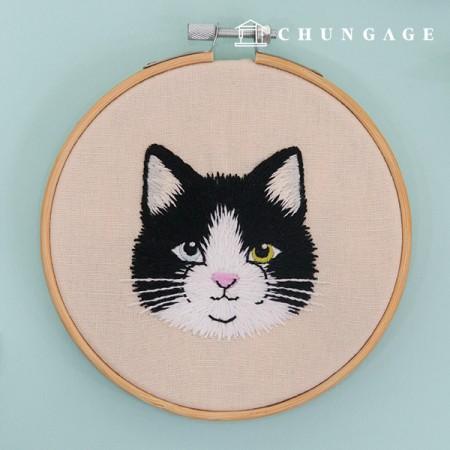 法式刺绣套装动物DIY套装猫Léon CH-511385经验