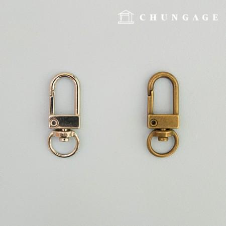 狗钩钥匙圈 D形钥匙圈 D形钩钥匙圈 2种
