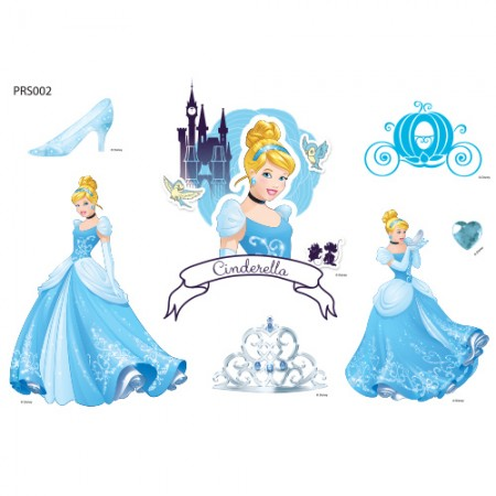 服装转印纸 Twinkle Cinderella 环保袋修改 热转印膜贴纸 PRS002