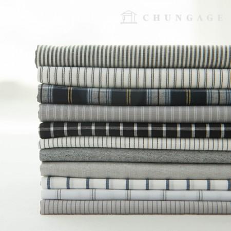 棉格子面料色织格子条纹素色现代 11 种