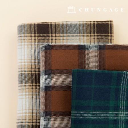 3种麻格纹面料棉混纺纱线染料格纹秋季格纹