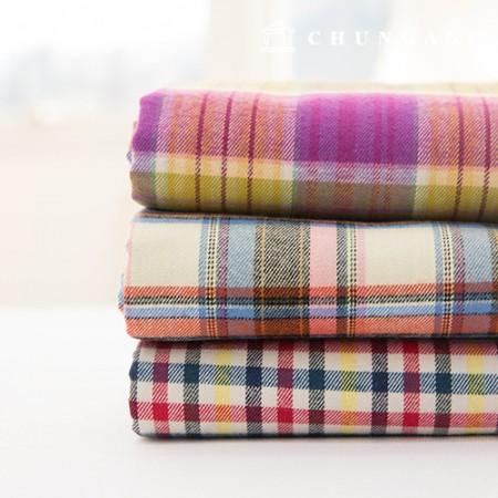Cotton Raised Fabric 拉/仿旧 彩虹3种