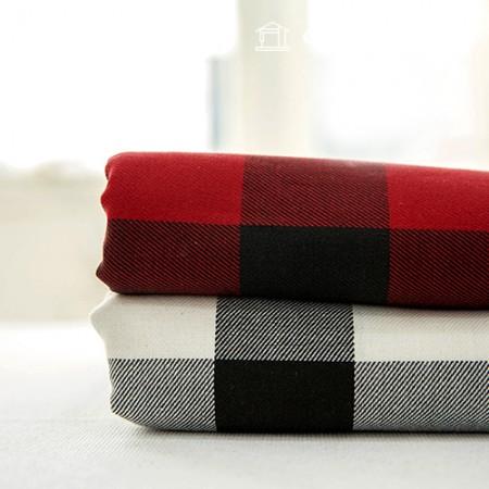 棉质凸起格纹面料斜纹方格格纹宽黑色方格 2 种类型