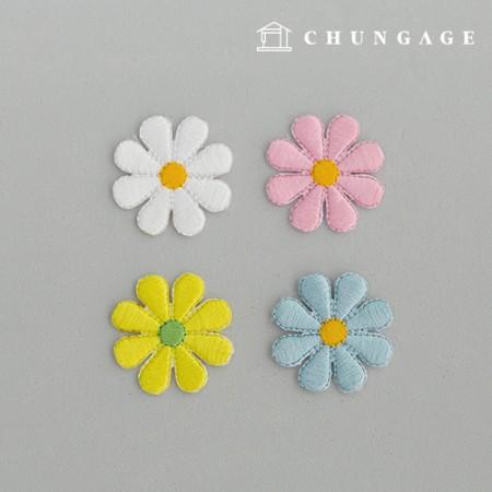 粘扇雏菊和扇花和扇子123