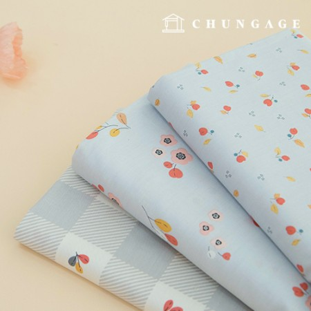 棉布0线斜纹4宽花店蓝灰色3款
