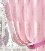 広幅 - カーテンか)葉(ピンク)