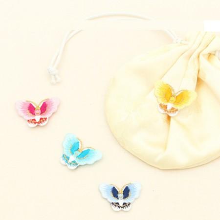 2ea)金糸蝶の刺繍が施さ(5種)
