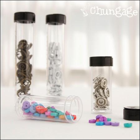 フランスの刺繍針筒小物収納透明ケース(2種/ 2個入り)