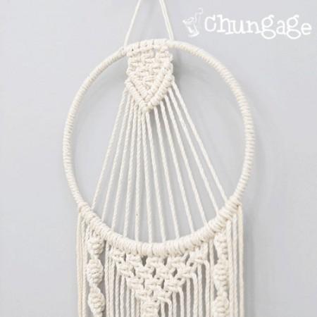 マクラメ材料マクラメ糸のシルバーリングマクラメリングドリームキャッチャーリング(4種)