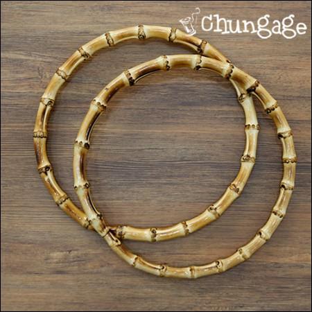 円形竹ハンドル大18cmバッグの持ち手マクラメ竹リングドリームキャッチャーリング[1個入り]