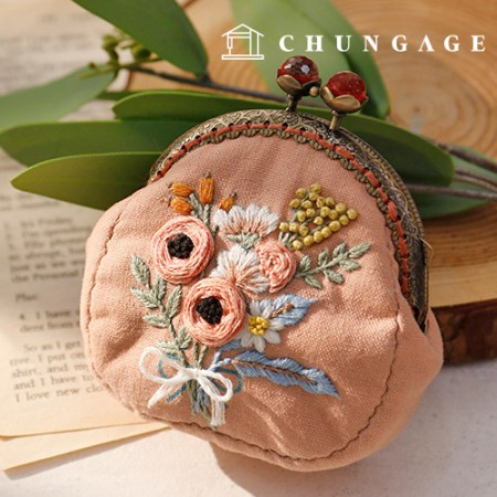 フランスの刺繍パッケージお花DIYキットダリアポーチCH-511858、自宅でできる趣味