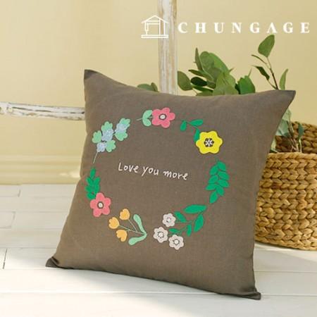 フランスの刺繍パッケージお花DIYキットフラワー夜クッションカバーCH-511620、自宅でできる趣味