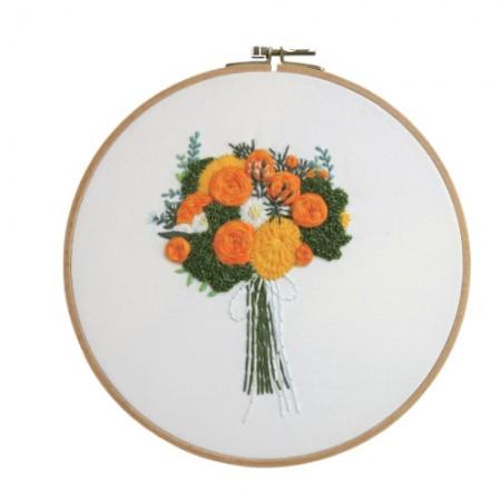フランスの刺繍パッケージお花DIYキットオレンジの香りCH-511219、自宅でできる趣味