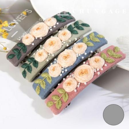 フランスの刺繍パッケージお花DIYキットローズヘアピングレーCH-512527B家でできる趣味