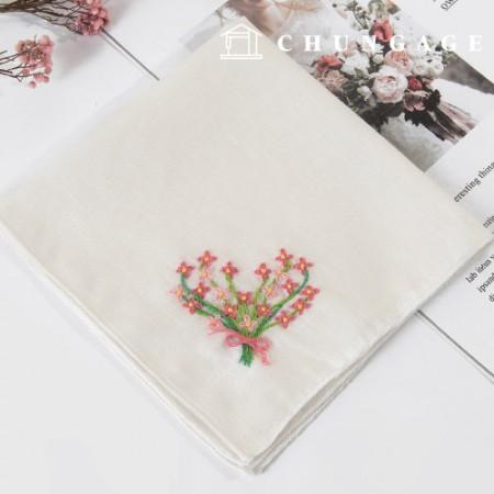 フランスの刺繍パッケージお花DIYキットお花の束ハンカチCH-513510、自宅でできる趣味