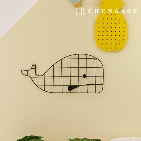 格子金網壁掛け金網動物の形の4種