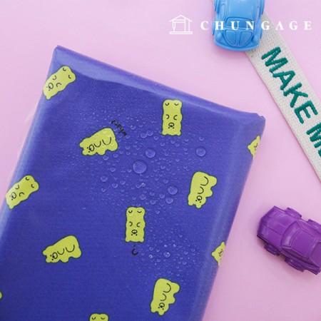 防水布、非毒性TPUラミネートコットンゼリーベア