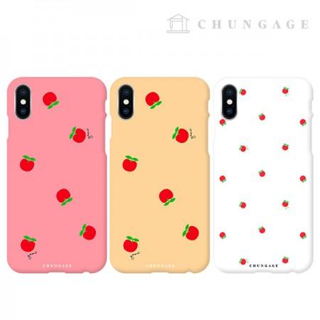 携帯電話ケースグッドモーニングアップル(3種)CA058、iPhoneギャラクシー全機種フォンケース