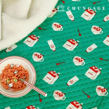 綿20数平織りコットン冬キルティング生地オディノリテーブル