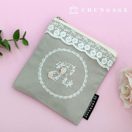 フランスの刺繍パッケージお花DIYキットレイスシークレットポーチCH-560130、自宅でできる趣味