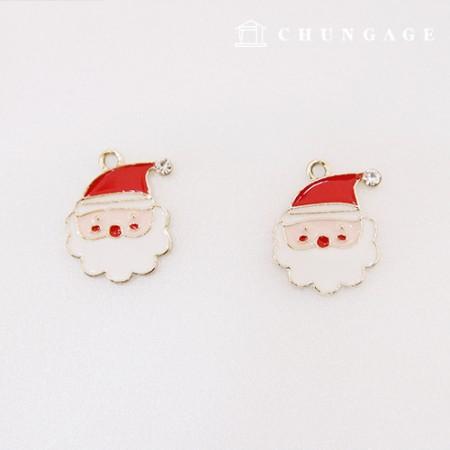 マスクネックレス装飾金属チャームペンダントクリスマスサンタ