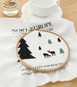 20数平織りカット紙)北欧ストーリー2color(ホワイト)