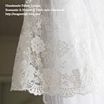 ネットレースR016ページズルフラワー大ホワイト
