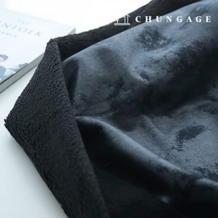 大幅マスタングフリース平織りブラック