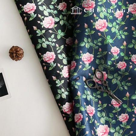 韓服の生地の花の香りポリ韓千チョルリクフラワー花柄2種