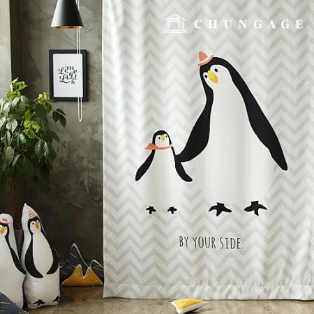 シンプル遮光布ペンギン遮光生地カーテン生地カーテン生地カーテン生地