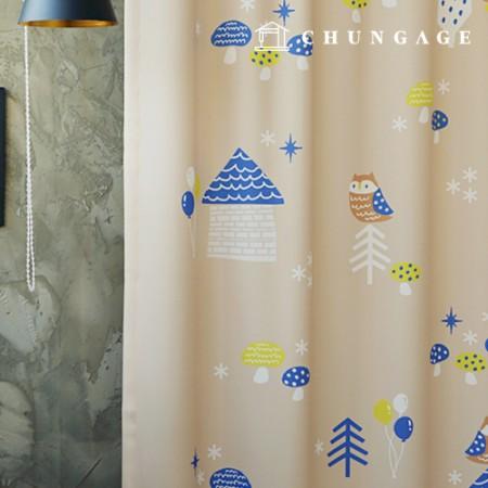 シンプル遮光布ユオルマジックビレッジ遮光生地カーテン生地カーテン生地カーテン生地