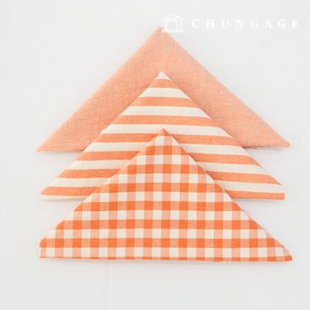 生地パッケージ綿生地ウォッシングチェックストライプガムランシリーズ1/8麻3ジョンペクオレンジ