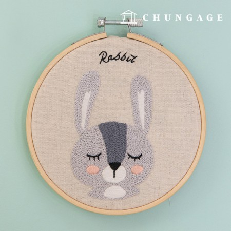 フランスの刺繍パッケージ動物DIYキット森の友達ラビットCH-511380、自宅でできる趣味