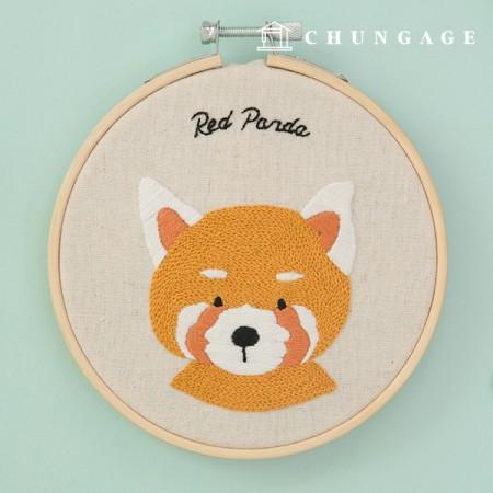 フランスの刺繍パッケージ動物DIYキット森の友達パンダCH-511381、自宅でできる趣味