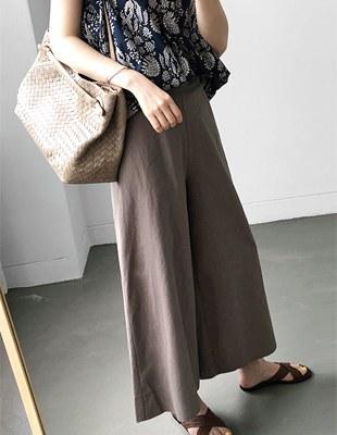 Vibe line cotton pants - 3c