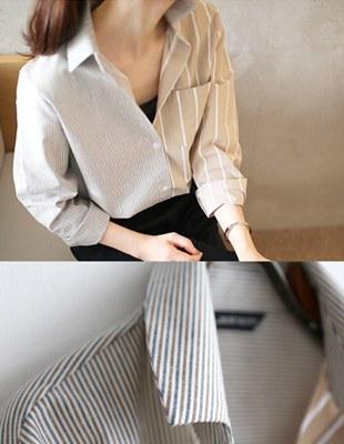Stripe ecr color combination Shirt - 2c
