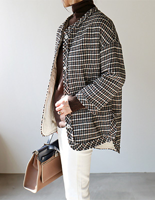 Houndstooth Bonding Jacket