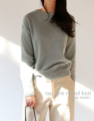 Raccoon round knit - 4c
